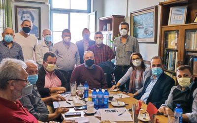 Επίσκεψη του Δημάρχου Χρήστου Βοσκόπουλου στην πυρόπληκτη περιοχή της Βόρειας Εύβοιας